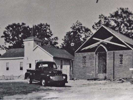 The partially finished new Pines Chapel Presbyterian