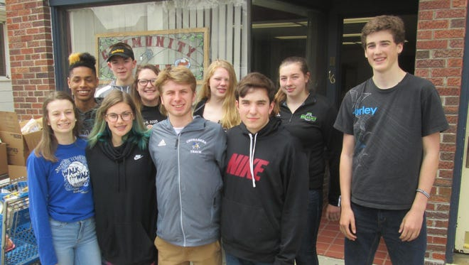 Central Wisconsin Christian students helped provide a meal to those in need on May 5 at the Waupun Community Table. Students pictured, front row from left: Reegan Aylesworth, Belle Vree, John VerHage and Nick Wendler. Back row from left: Omari Corujo, Maxwell Vander Werff, Cassie Holden, Annika Huizenga, Makayla Braskamp and Joe De Vries.