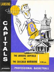 The Lansing Capitals are one of several now defunct semi-pro teams This is an image a team program.