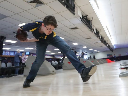Panas' Nick Perrone, the Westchester/Putnam boys bowler of the year photographed at Jefferson Valley Lanes in Jefferson Valley on Saturday, March 31, 2018.