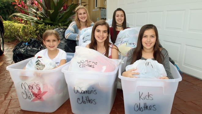 Ivy Cunningham (from left), Karina Del Toro, Mallory Cunningham, Kayleigh Cunningham and Allie Del Toro
