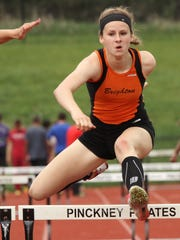 Brighton's Erin Dowd was second in the 300-meter hurdles and third in the 100 hurdles at Saturday's Division 1 state meet.