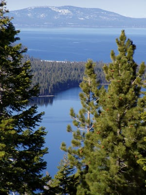 The view toward Lake Tahoe from Fallen Leaf in California in an undated photo.