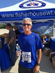 Dave Van Thiel, an Army veteran who worked at the VA for 30 years, ran in the Famous Racing Sausages 5K to support Fisher House.