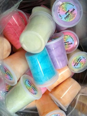 Cotton Candy from Lake Erie Candy Co. is just one of the confectionery's products now carried by Ye Olde Sweet Shoppe, 402 State St.