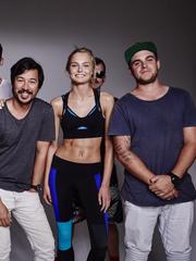 Model Nikayla Novak worked with a team of photographers