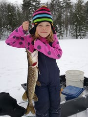 Northern pike put up a strong fight, but this one was