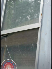 Fireworks launched by neighbors broke window in home of Julie Jeffries.  Editorial