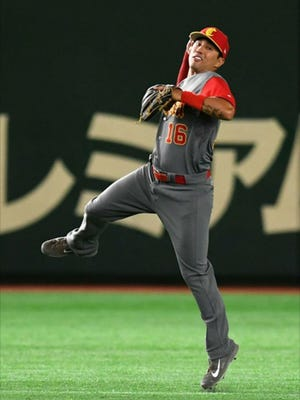 Joey Wong played shortstop for China in the recently completed World Baseball Classic