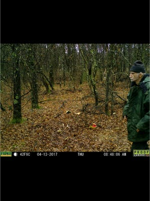 A photo of Gerald Brody captured on a trail camera April 13.