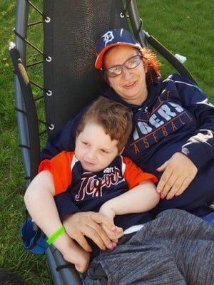Connor and his mom, Michelle Weston.