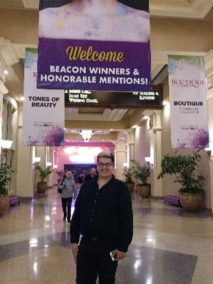 Raritan Valley Community College student Peter Wicks of Whitehouse recently attended Beacon 2017, which provides cosmetology students with education and opportunities to network with the industry's highest profile salon owners and stylists during the Professional Beauty Association Beauty Week, held annually in Las Vegas, Nevada