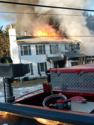 The Southampton house of Tabernacle firefighter Jason Penwell was destroyed in a blaze Wednesday afternoon.