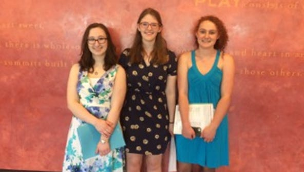 Winners of the Thursday Morning Musicales scholarships