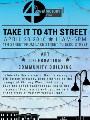 The inaugural Victory Way Block Party will be held in April on Fourth Street's Old Brewery District.