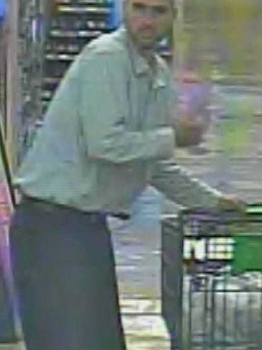 A second photo of the suspected Giant Food Store thief.