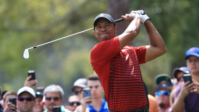 Tiger Woods plays his shot from the second tee during the final round of the Valspar Championship at Innisbrook Resort Copperhead Course on March 11, 2018 in Palm Harbor, Fla.