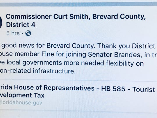 Florida Rep. Randy Fine said he noticed this on County