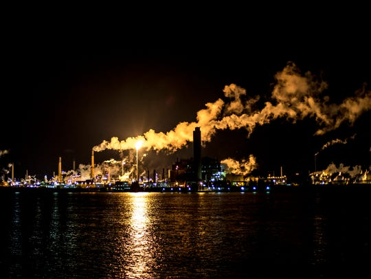 Flaring at Imperial Oil in Sarnia often is visible
