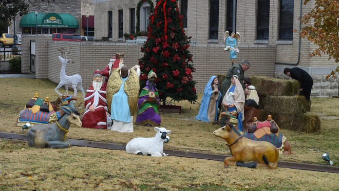 Plaintiffs in a lawsuit against Baxter County are asking for $70,300.01 in costs and attorneys' fees following a Nov. 12 judgment handed down in a case regarding the placement of a privately-owned Nativity scene on courthouse grounds.