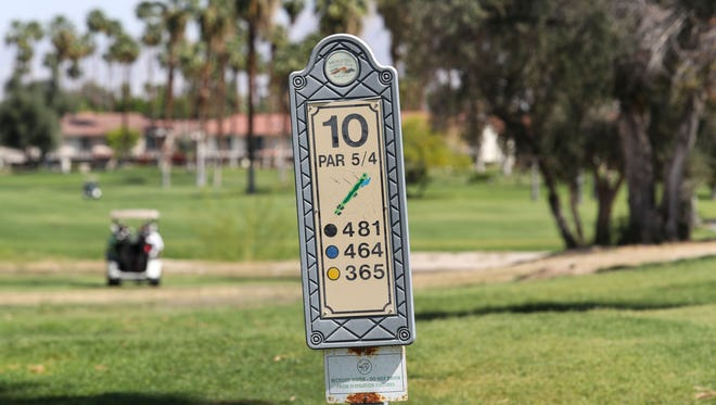 The 10th hole at Mesquite Country Club in Palm Springs, April 9, 2018.