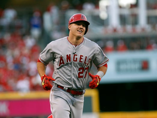 2015: Mike Trout leads off the All-Star Game in Cincinnati
