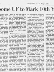An article from The Evening Press from May 3, 1964.