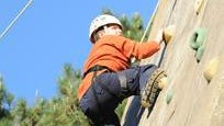 Climbing Goliath has been a favorite activity at Kimball Camp each summer.