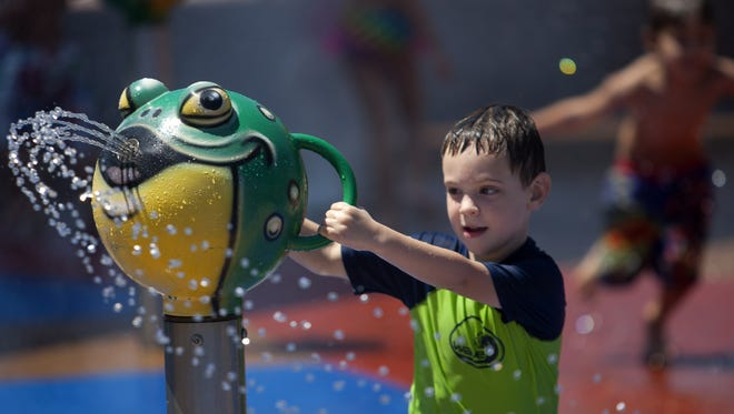 Better watch out, this frog is loaded at Rio Vista Community Park  in Peoria.