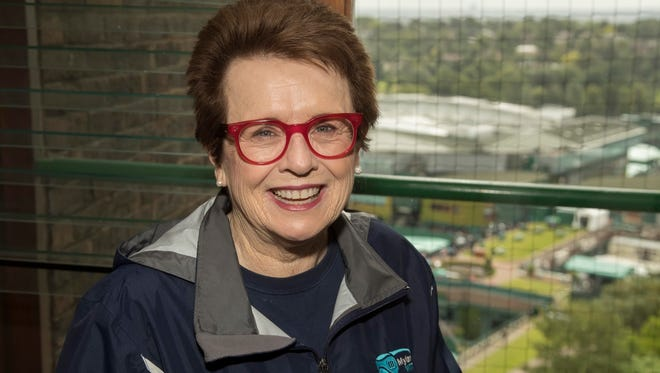 Billie Jean King at her apartment at Wimbledon on June 29. She's been staying at the same buildings close to the All England Club for ages.