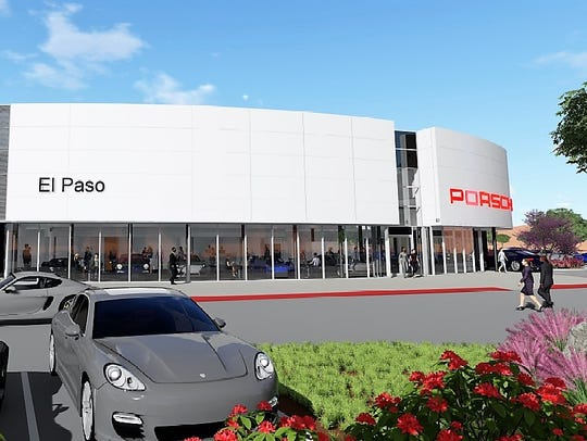 A rendering of Group 1 Automotive's planned Porsche