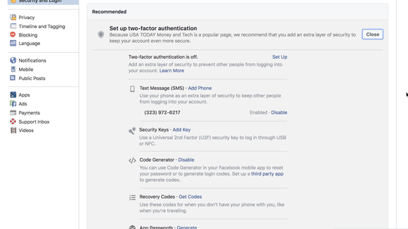 Facebook apologizes for text spam for 2FA users