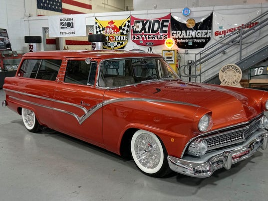 Roush bringing 1955 ford ranch wagon to autorama for 1955 ford 2 door wagon