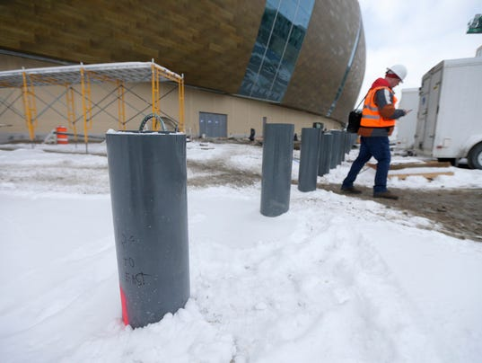 Bollards are designed to prevent attacks by terrorists for Milwaukee motor vehicle department