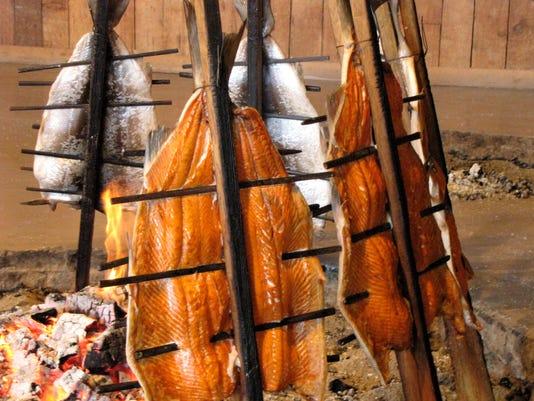 Salmon roasting