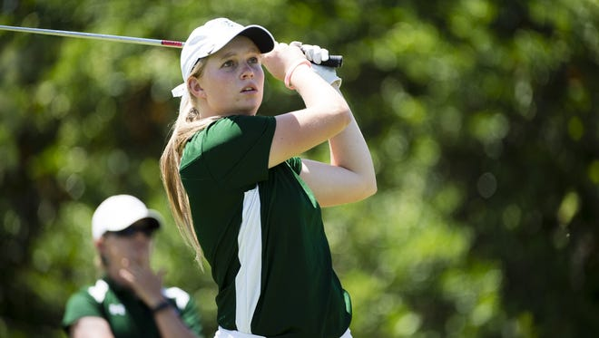 CSU golfer Katrina Prendergast, shown competing at the Mountain West championships in April, qualified for the U.S. Women's Amateur next month in Illinois during a qualifying tournament Thursday at Fort Collins Country Club.