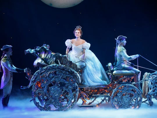 """From Left, Brian Liebson, Tatyana Lubov and Arnie Rodriguez perform in Rodgers and Hammerstein's """"Cinderella."""" ©"""