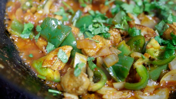 Chicken chilli prepared at Bismillah Groceries and Kitchen on Congess in Lafayette.