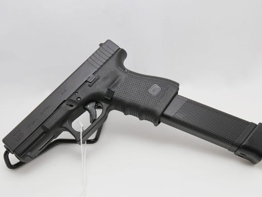 Glock 19 with extended magazine