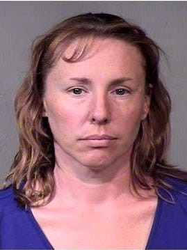 Michelle Dawn ­Gibson, 43, is on trial in Maricopa County (Ariz.) Court, accused of plotting to murder her husband, whom she said was abusive.