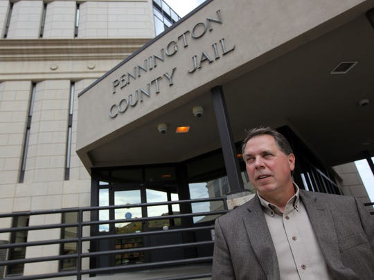 Pennington County Sheriff Kevin Thom is shown outside the jail in Rapid City.