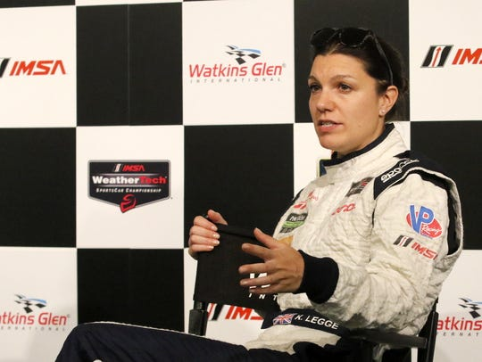 Katherine Legge, co-driver of the No. 0 Panoz DeltaWing