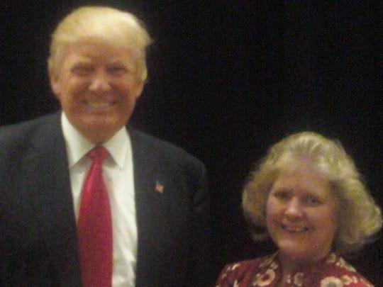 Donald Trump met with Mercersburg's Debbie Taylor in Pittsburgh recently.