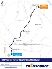 This map shows the proposed route for a 16-mile leg