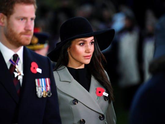 LONDON, ENGLAND - APRIL 25: Prince Harry and Meghan