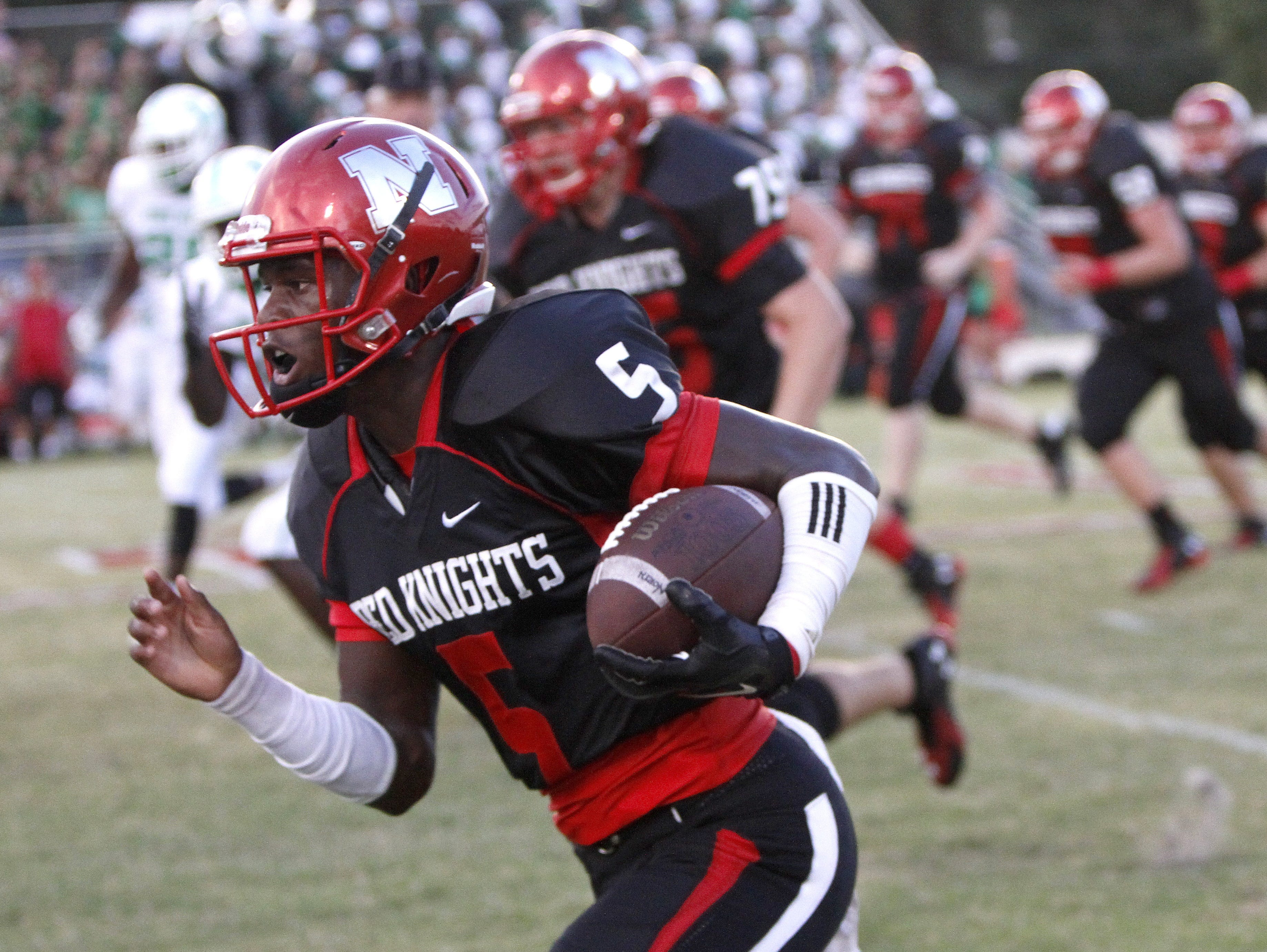 North Fort Myers quarterback J'Ravien Anderson will be an important option for the Red Knights against Charlotte on Friday.