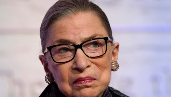 Supreme Court Justices Ruth Bader Ginsburg is seen