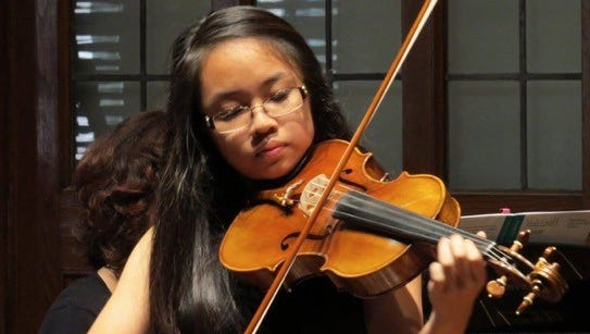 Violist Julia Hernandez will perform in this year's Kids Go for B'roque concert.