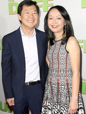 "Actor Ken Jeong with Tran Ho in L.A. last month. He says he channeled his rage at his wife's cancer into ""The Hangover."""