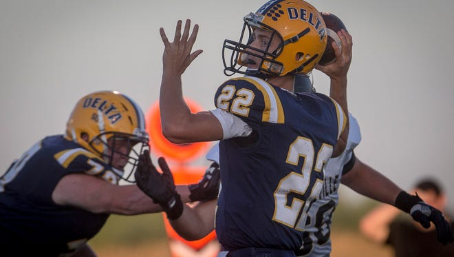 Delta lost to Shelbyville Friday night during a close game, ending the night with a final score of 28-21.